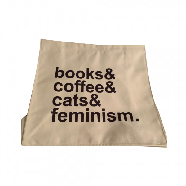 Book Coffee Cat Femism Bag