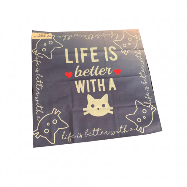 Life is Better with a Cat Small Scarf